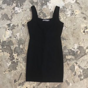 Paige Black Sleeveless Fitted Dress
